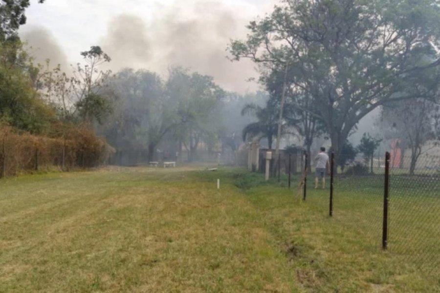 Santa Ana: Pánico en los vecinos de un barrio privado por los incendios