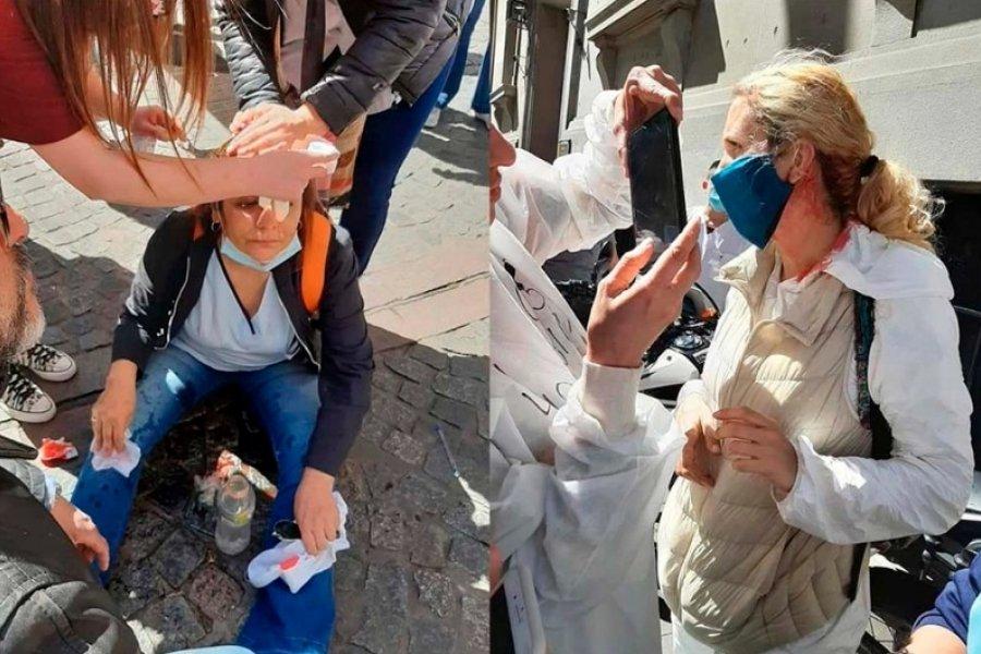 Enfermeros denunciaron agresión policial frente a la Legislatura porteña