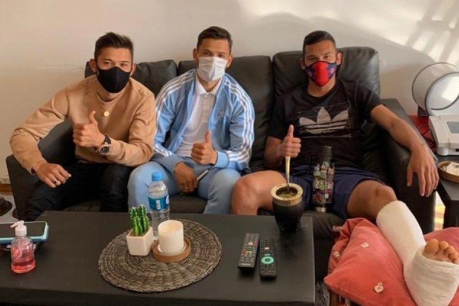 Los hermanos Romero fueron a visitar a Herrera