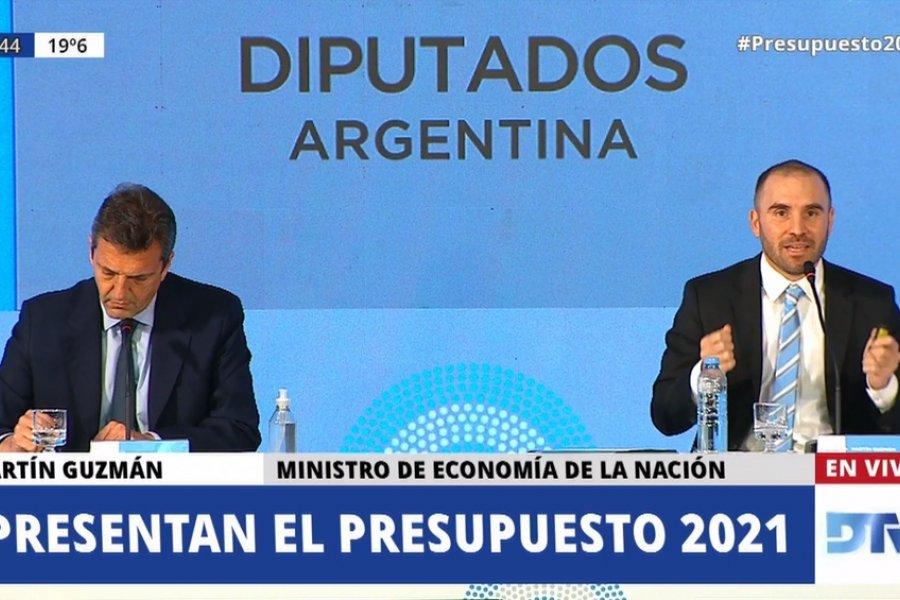 """El Presupuesto 2021 """"es un paso fundamental en el proceso de estabilización de la economía"""""""
