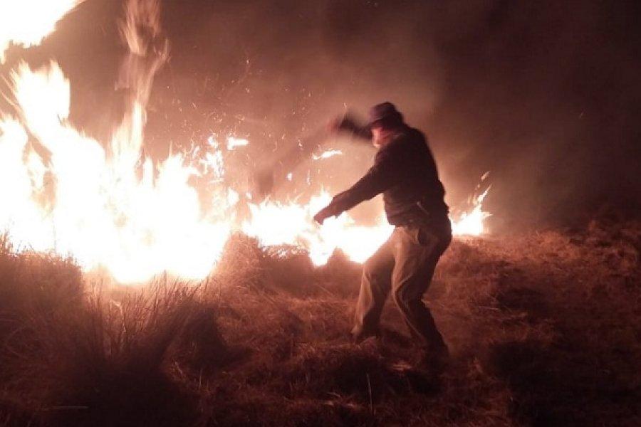 Incendios en El Sombrero: Algunos focos siguen prendidos por efecto del viento
