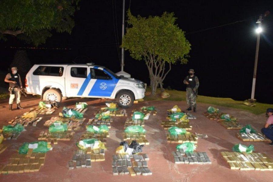 Corrientes: Prefectura incautó un cargamento de más de 587 Kilos de marihuana