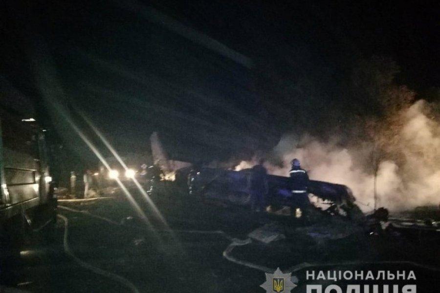 22 muertos al estrellarse un avión militar en Ucrania