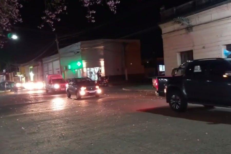 VIDEO- Multitudinaria caravana de sauceños pidiendo el reasfaltado de la Ruta 126