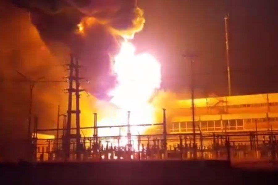 VIDEO- Un incendio en la Usina de Barranqueras dejó sin servicio a Resistencia