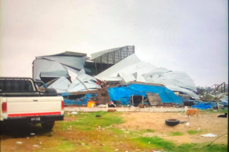 Impactantes imágenes de los destrozos que ocasionó el temporal en Santa Lucía