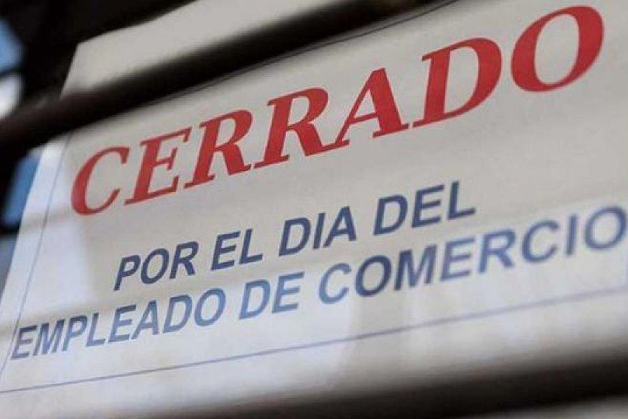 Los negocios estarán cerrados este lunes por el día del Empleado de Comercio