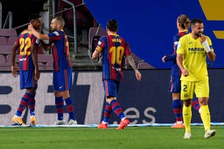 Con un gol de Messi de penal Barcelona aplastó a Villarreal