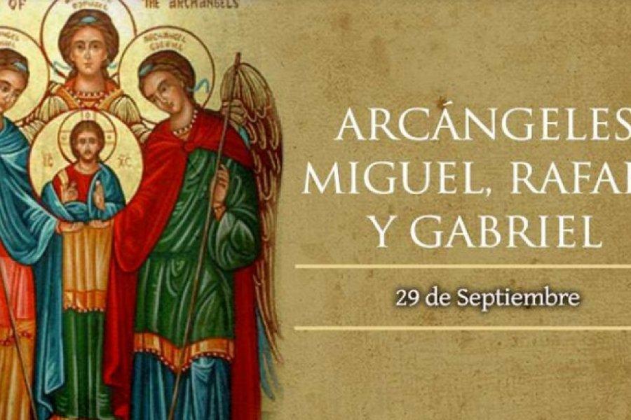 Este martes 29 se celebra a los Santos Arcángeles Miguel, Rafael y Gabriel