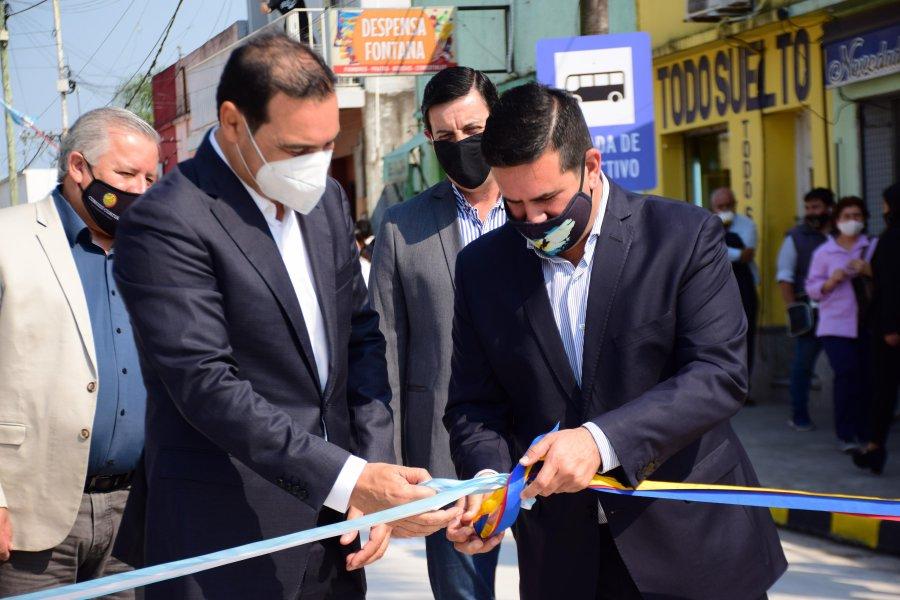 Inauguraron repavimentación de calle Berón de Astrada y sector de Emergencias del Hospital
