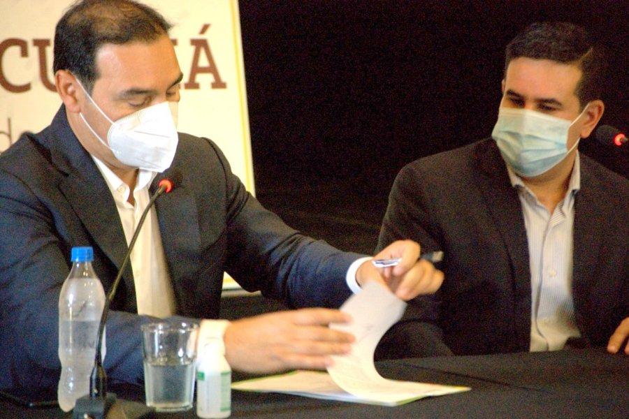 Curuzú suscribió convenio para la canalización del Arroyo Castillo