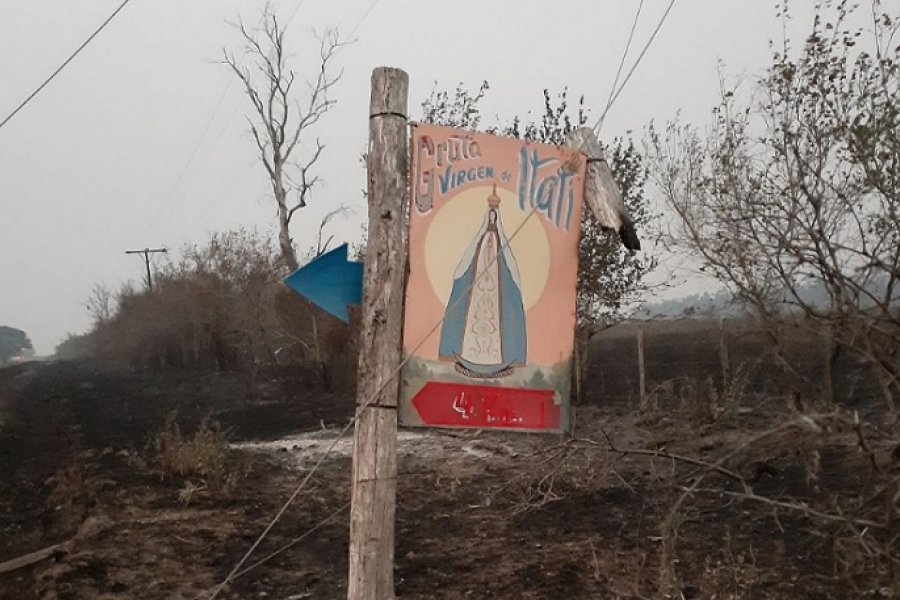 Corrientes: Imagen de la virgen de Itatí quedó intacta tras los incendios