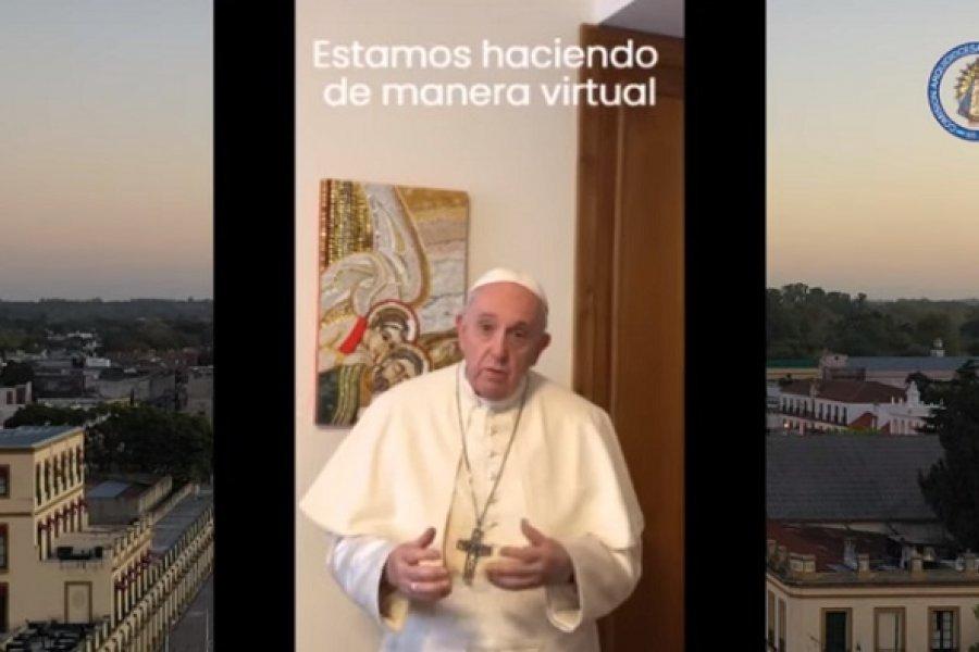 El Papa se suma a la Peregrinación virtual rezando y caminando a Luján con los argentinos