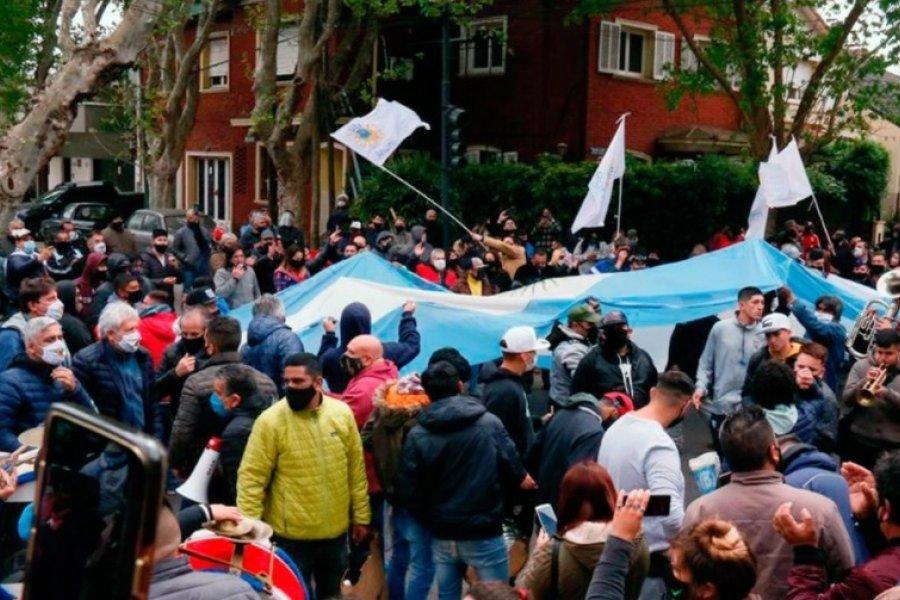 Marcha en apoyo a Alberto Fernández en Olivos