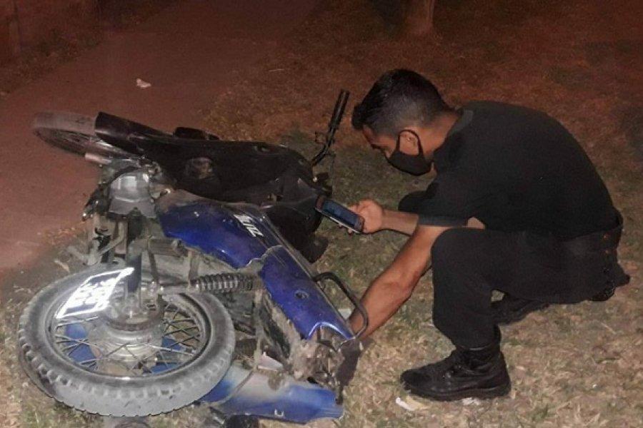 Policía de franco evitó un robo al chocar a los motochorros