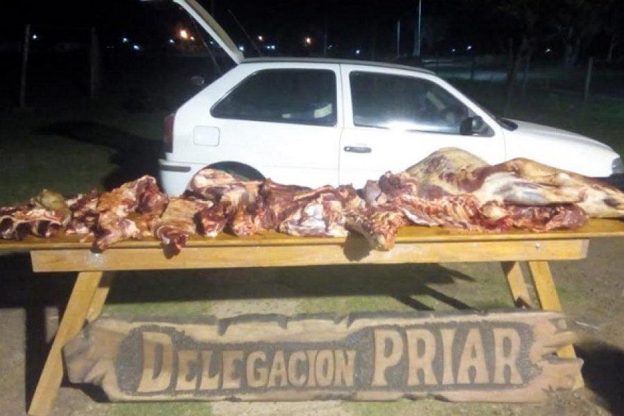 Abigeato en Alvear: Secuestran carne vacuna