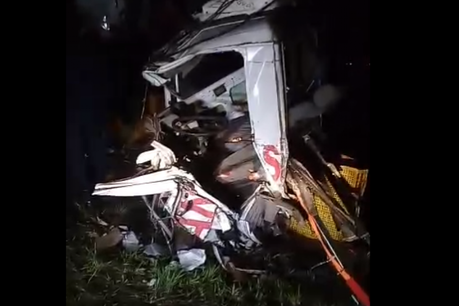VIDEO- Dos muertos en un accidente fatal en Alvear