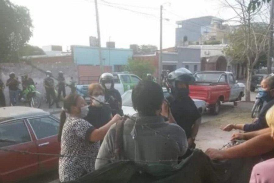 Tensión por el desalojo de una familia en el barrio San Benito