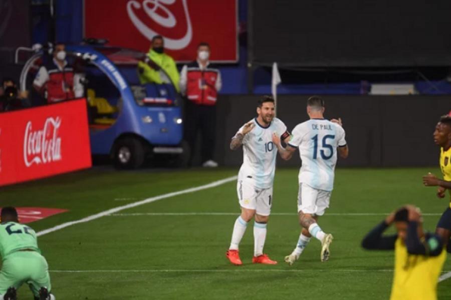 Argentina derrotó a Ecuador en el inicio de una nueva eliminatoria