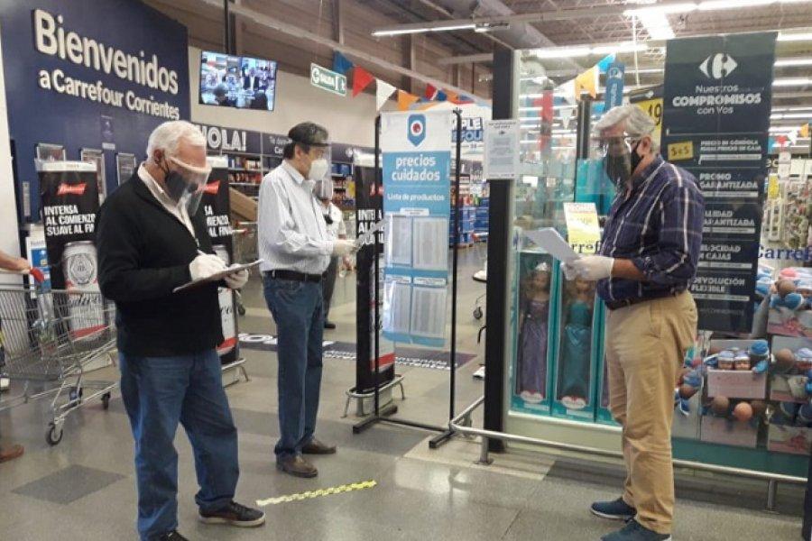 Controlan medidas de seguridad sanitaria en supermercados