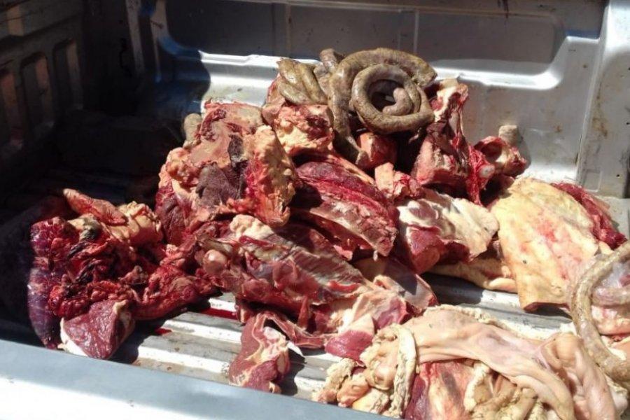 Incautaron 207 kilos de carne bovina y embutidos no aptos para el consumo