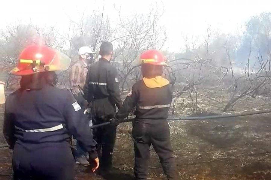 Bomberos lograron sofocar varios focos de incendio en Paso de La Patria