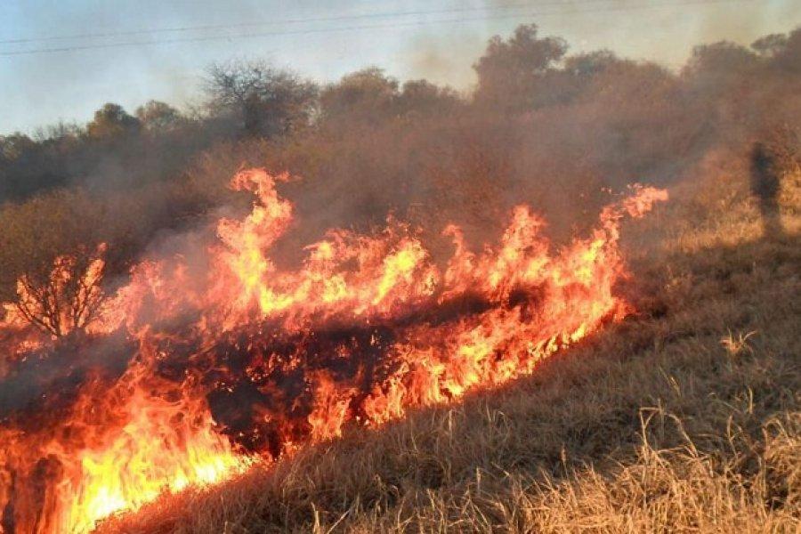Incendios de pastizales causaron daños en la distribución de energía
