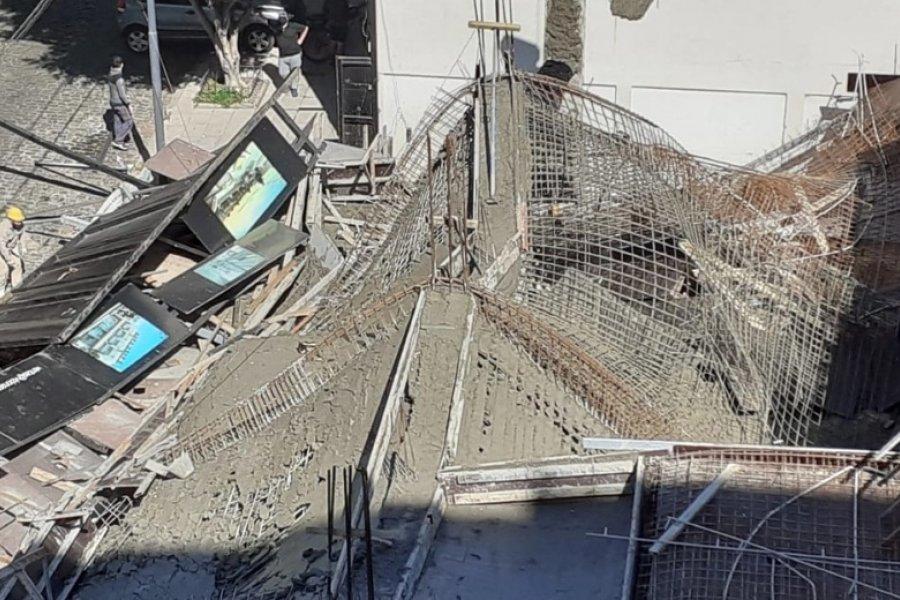Se derrumbó una obra en construcción en Belgrano