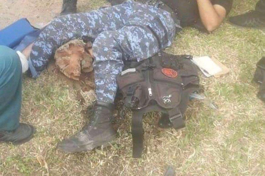 Chocaron a un policía y lo dejaron gravemente herido