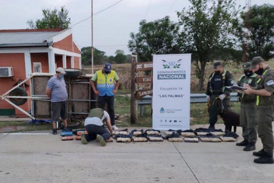 Chaco: Viajaba con 45 kilos de marihuana en el tráiler de su automóvil