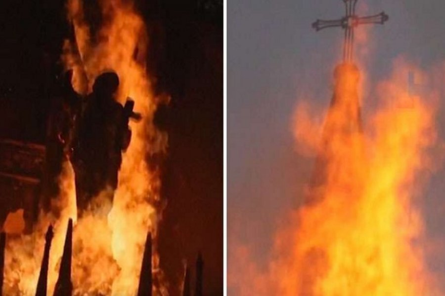 Arzobispo condena ataques incendiarios contra iglesias en Chile