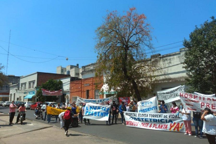 Enfermeros siguen reclamando y esperando una respuesta de las autoridades