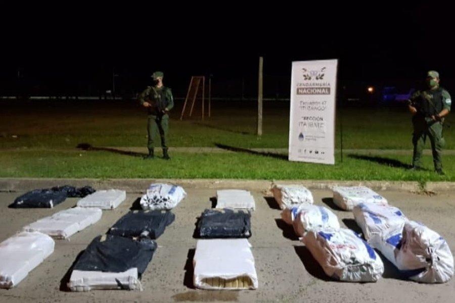 Gendarmería incautó 300 kilos de marihuana en Itá Ibaté