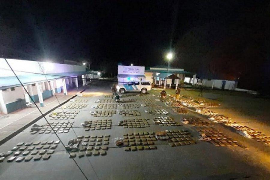 Corrientes: Prefectura secuestró más de una tonelada de marihuana