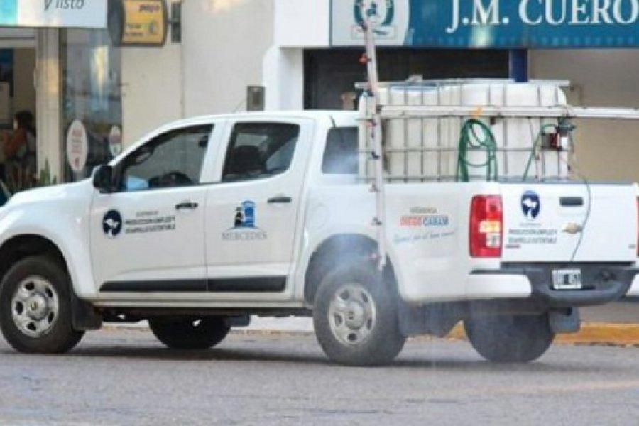 Coronavirus: Realizan trabajos de desinfección en Mercedes
