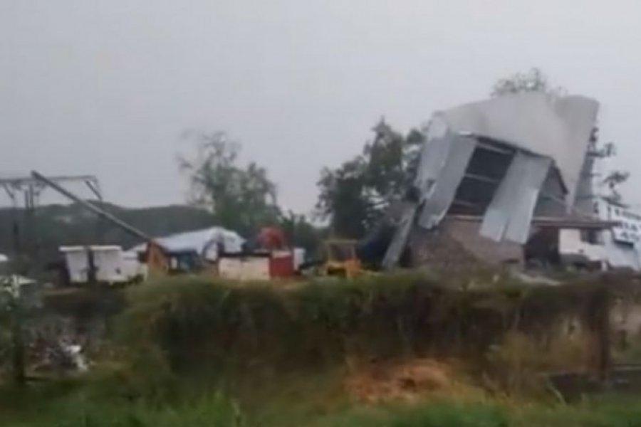 Resistencia: se derrumbó un galpón y dejó a tres menores heridos