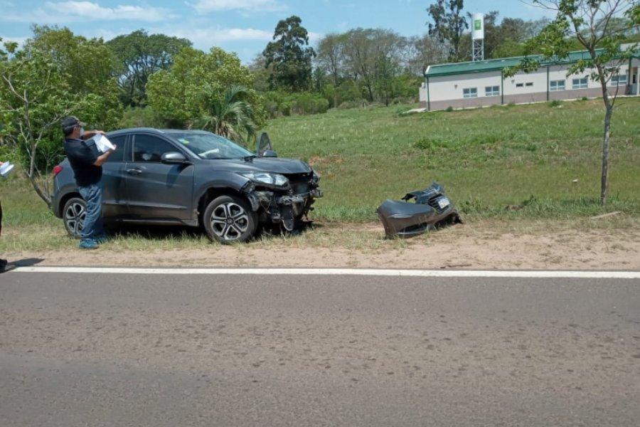 Un auto destruyó el arco sanitizante del control sanitario de Santa Rosa