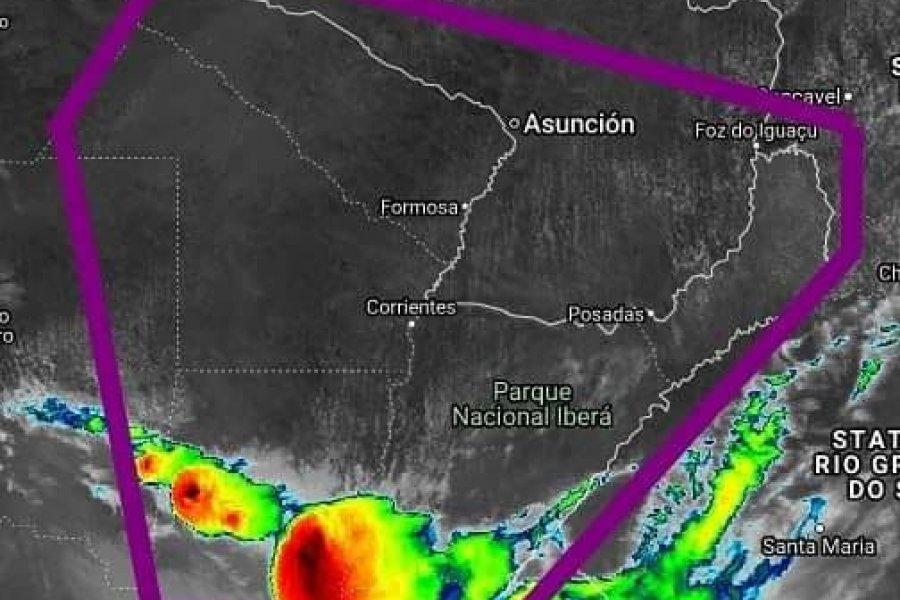 Alerta por tormentas fuertes con caída de granizo para Corrientes