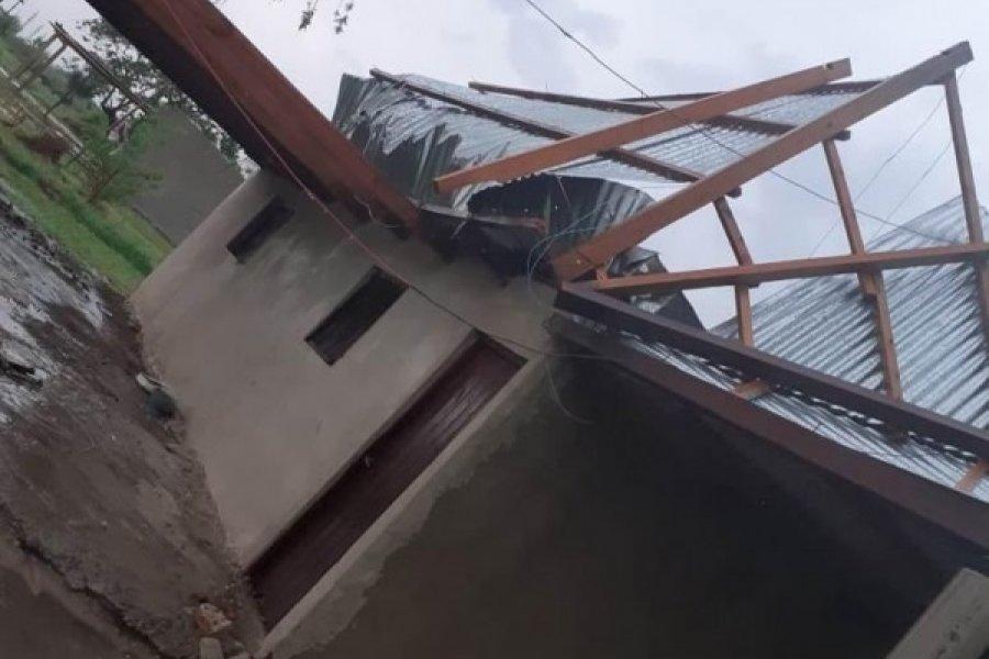 Tormenta provocó graves daños en Mercedes