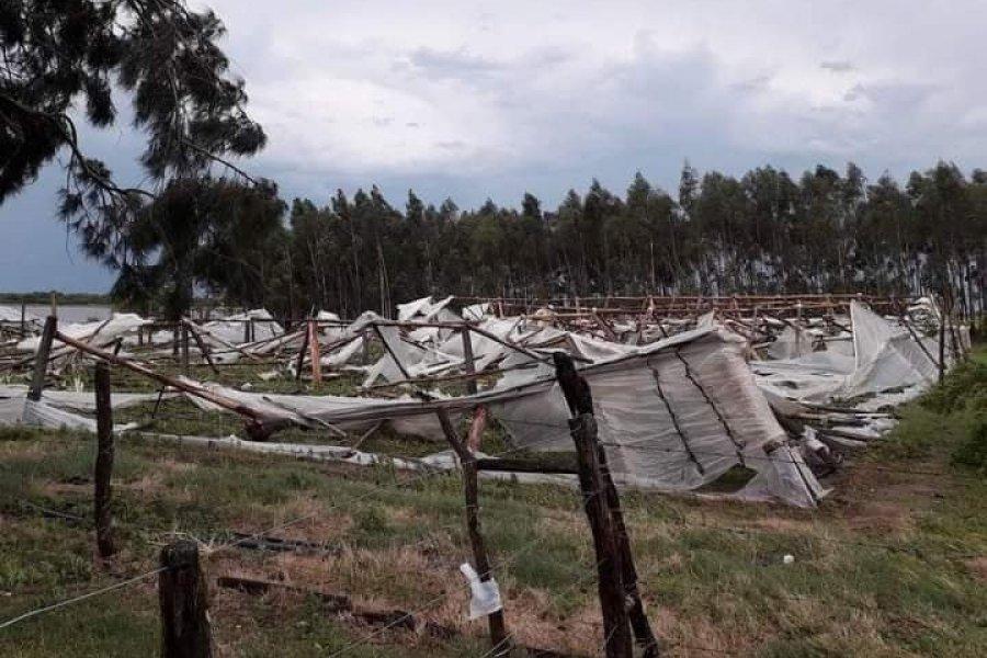 Impactantes imágenes de lo que dejó el temporal en el interior