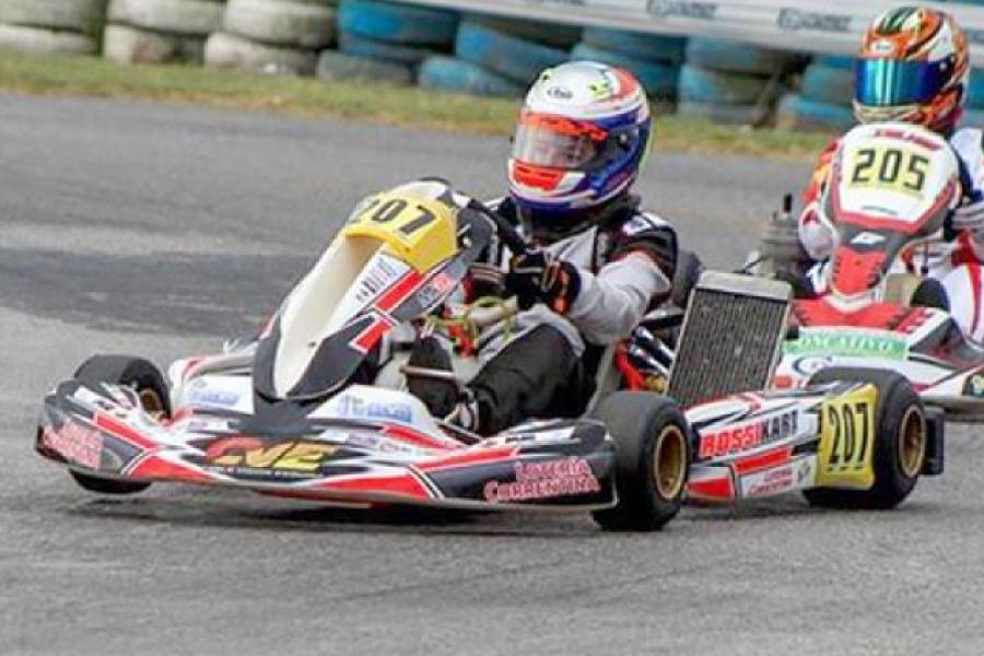 Benjamín Traverso mostró su capacidad conductiva en el kartódromo de Buenos Aires