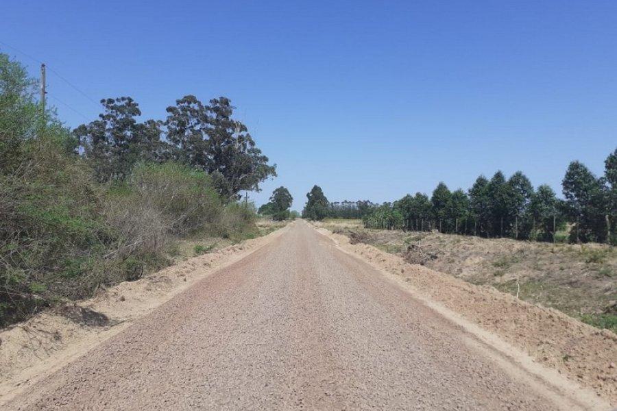 Concluyó el enripiado sobre dos tramos de la ruta provincial Nº 112