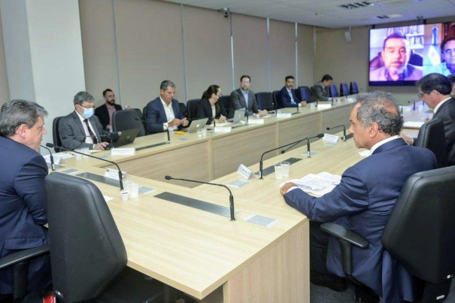 Integración fronteriza con Brasil, eje del encuentro de Scioli con los Ministros Katopodis y Tarcisio Gomes