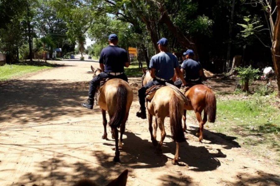El Priar de Ituzaingó realizó patrullajes a caballo para prevenir delitos rurales