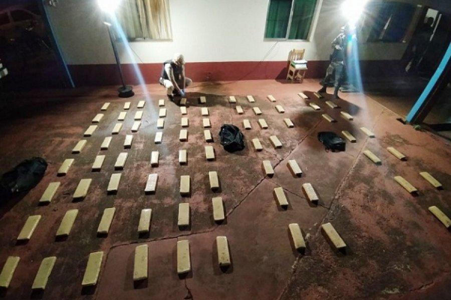 Incautaron más de 114 kilos de marihuana en la zona de Itatí