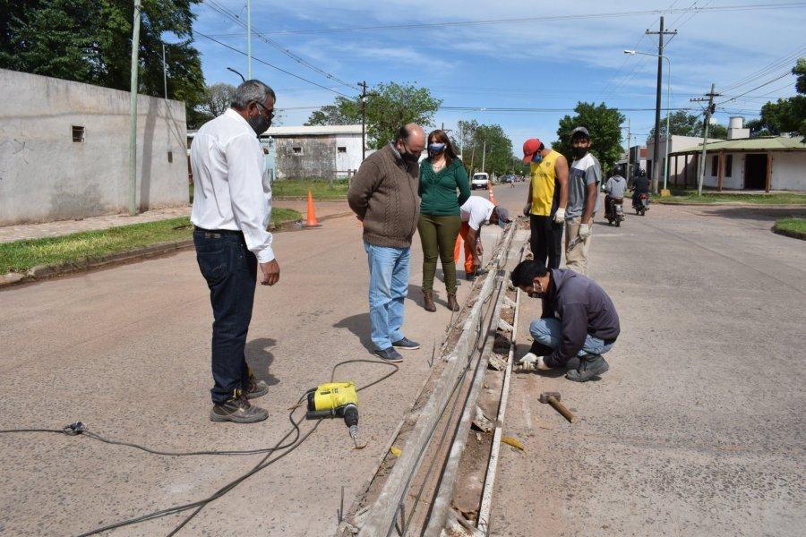El intendente Caram recorrió las obras que se realizan en la ciudad