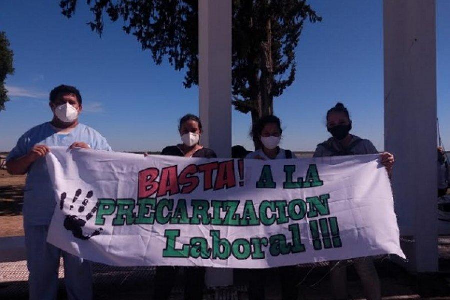Novena marcha de precarizados en Salud Pública a Casa de Gobierno