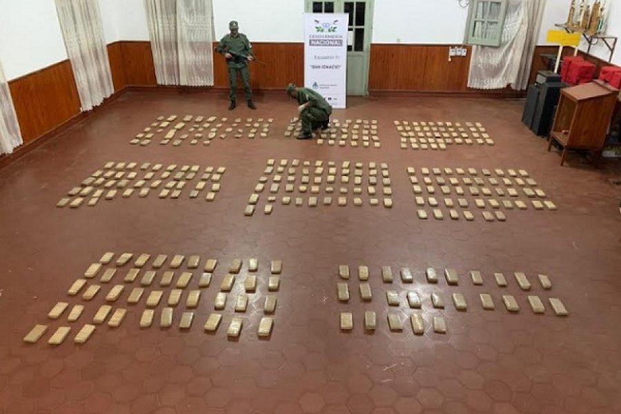 Gendarmes incautan en Misiones más de 205 kilos de marihuana y más de 20 kilos de cocaína