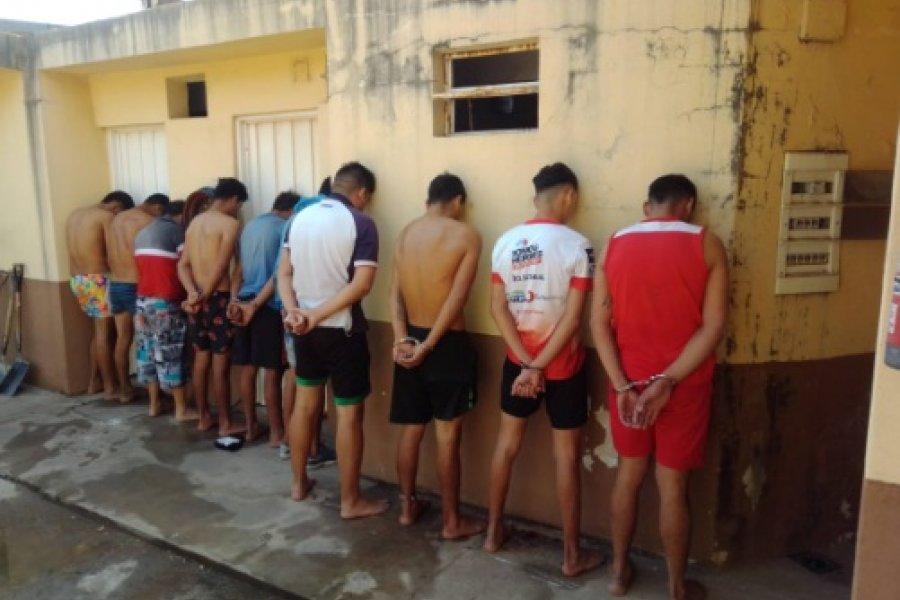 Fuerte operativo policial en el barrio Trujillo