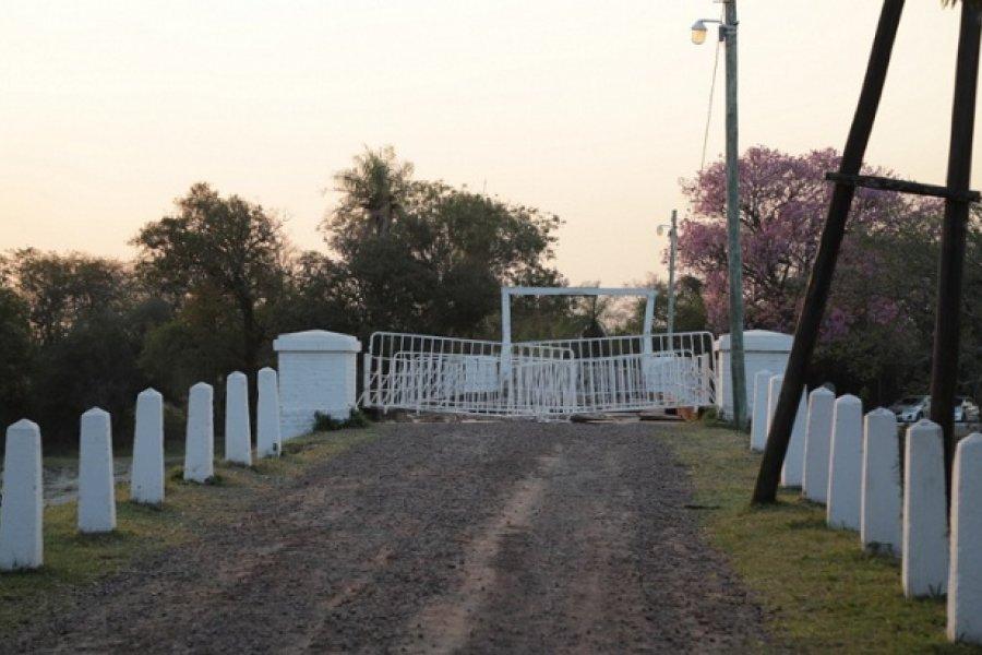 Avanzan las obras de reparación del puente Pexoa